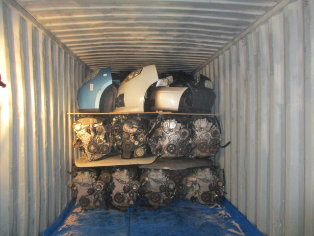 Japanese used car parts container export to Trinidad and Tobago