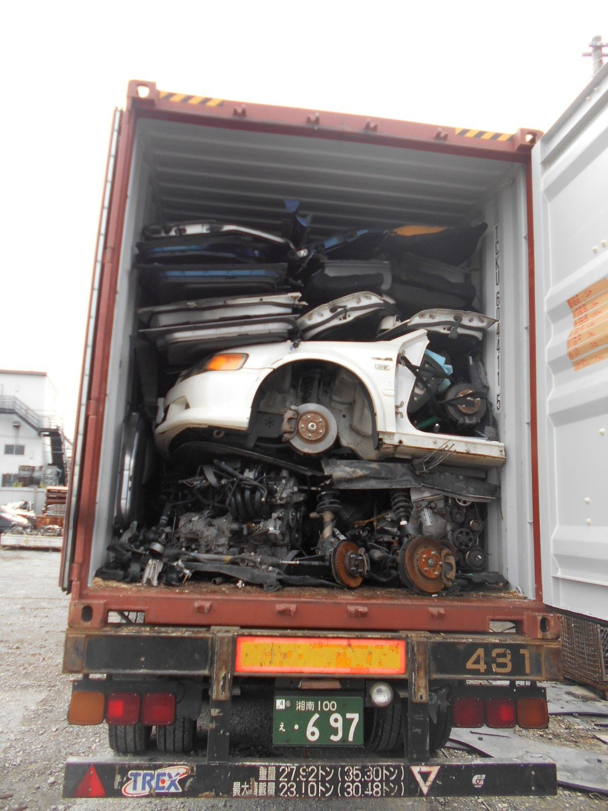 Used auto parts export to Malaysia