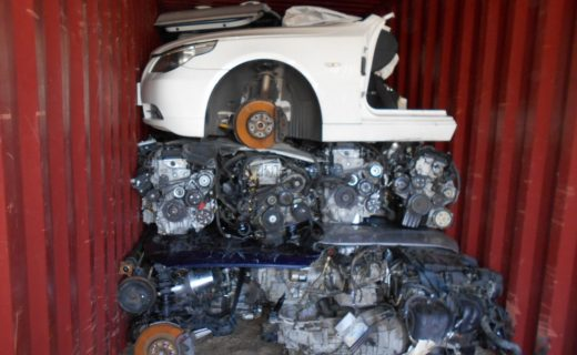 Japanese used car parts container export to Dubai